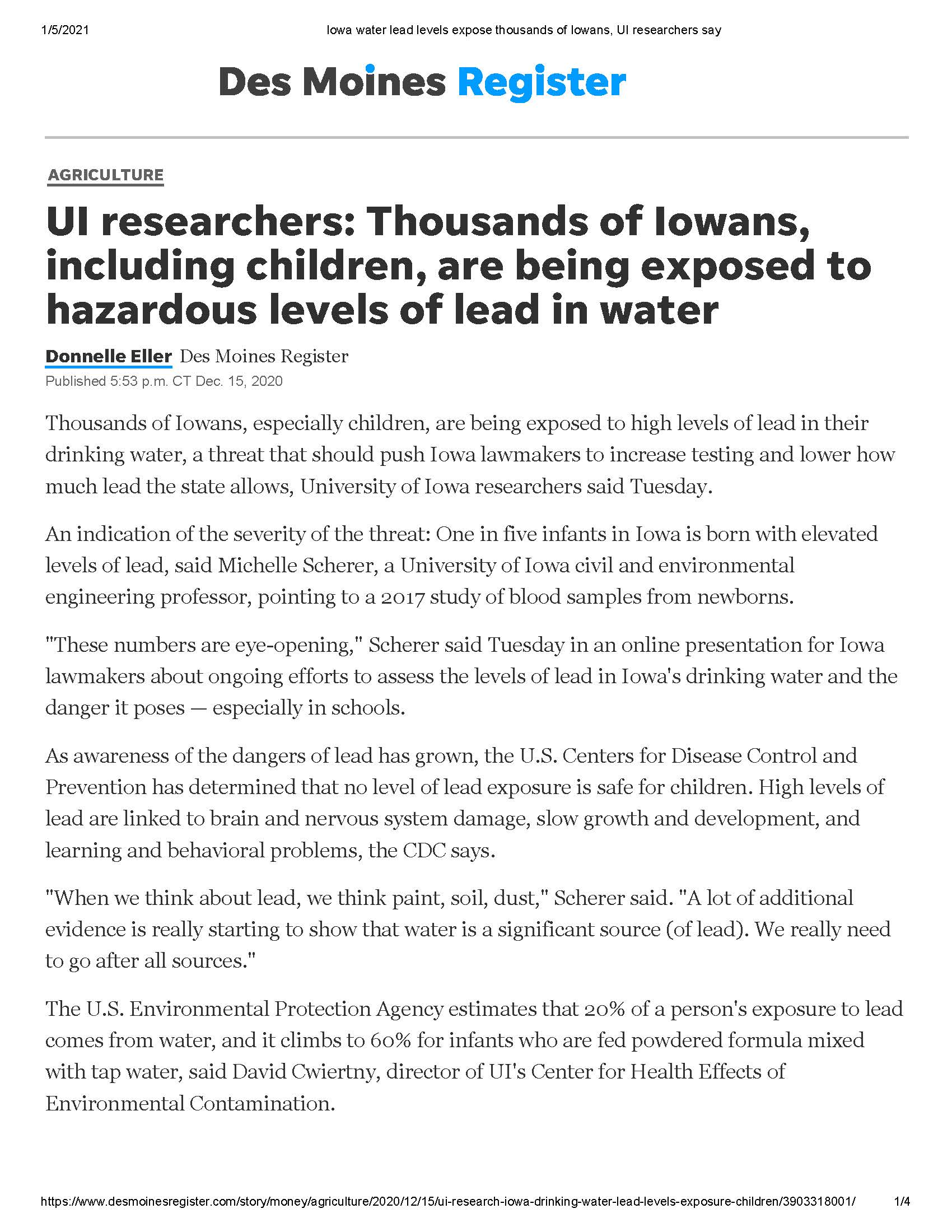 Water Quality in Iowa